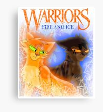 Fire and Ice - Fireheart and Tigerclaw Canvas Print