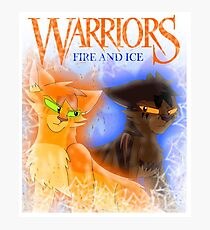 Fire and Ice - Fireheart and Tigerclaw Photographic Print