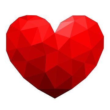 Geometric Heart Valentine's Day Promote Love by lcorri