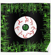 Robotic Matrix Code Eye Poster