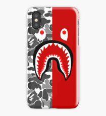 bape shark army camo iPhone Case/Skin