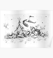 NARNIAN PICNIC illustration Poster