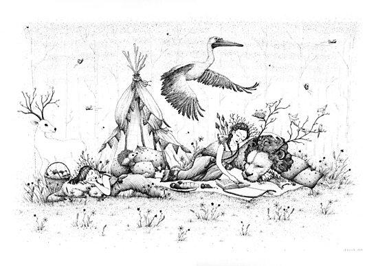 NARNIAN PICNIC illustration by Jessica  Jane