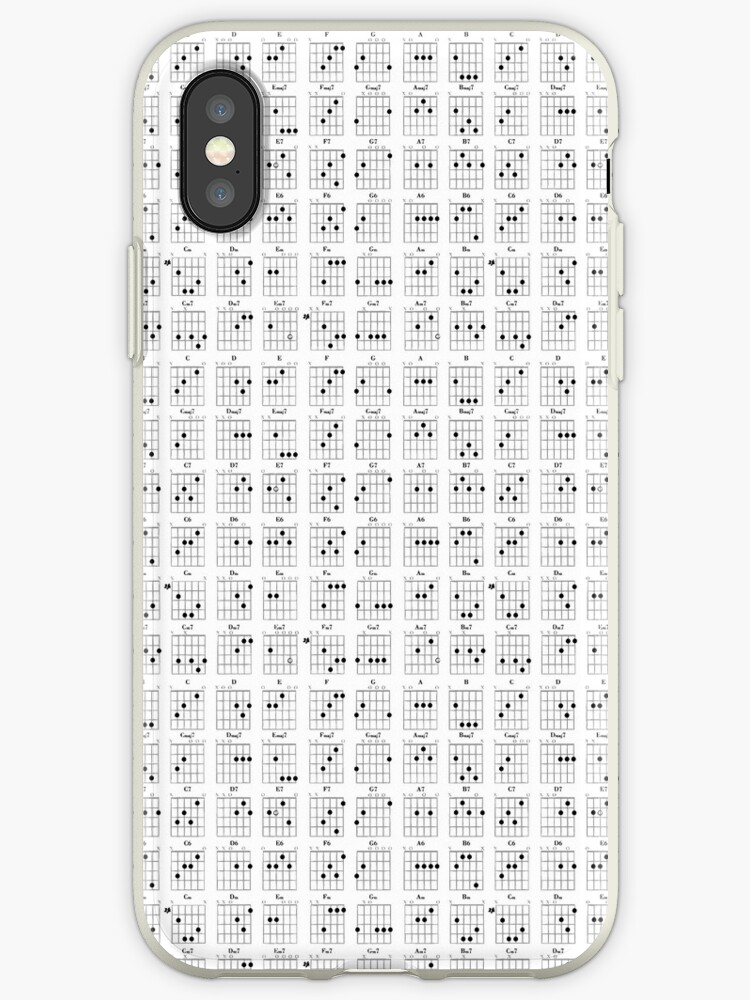 Guitar Chords Iphone Cases Covers By Pigdogziggy Redbubble