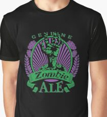 Zombie Beer Label Creepy Epic Adult's Design Graphic T-Shirt