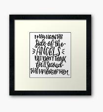 Sherlock-Angels Framed Print