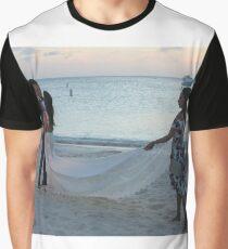 #Wedding #beach #water #sea #sand #people #travel #fun #romance #summer #enjoyment #horizontal #colorimage #watersedge #women #leisureactivity #recreationalpursuit #vacations #traveldestinations Graphic T-Shirt