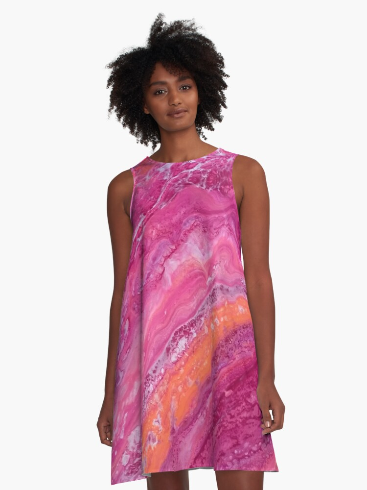 Abstract acrylic art A-Line Dress Front
