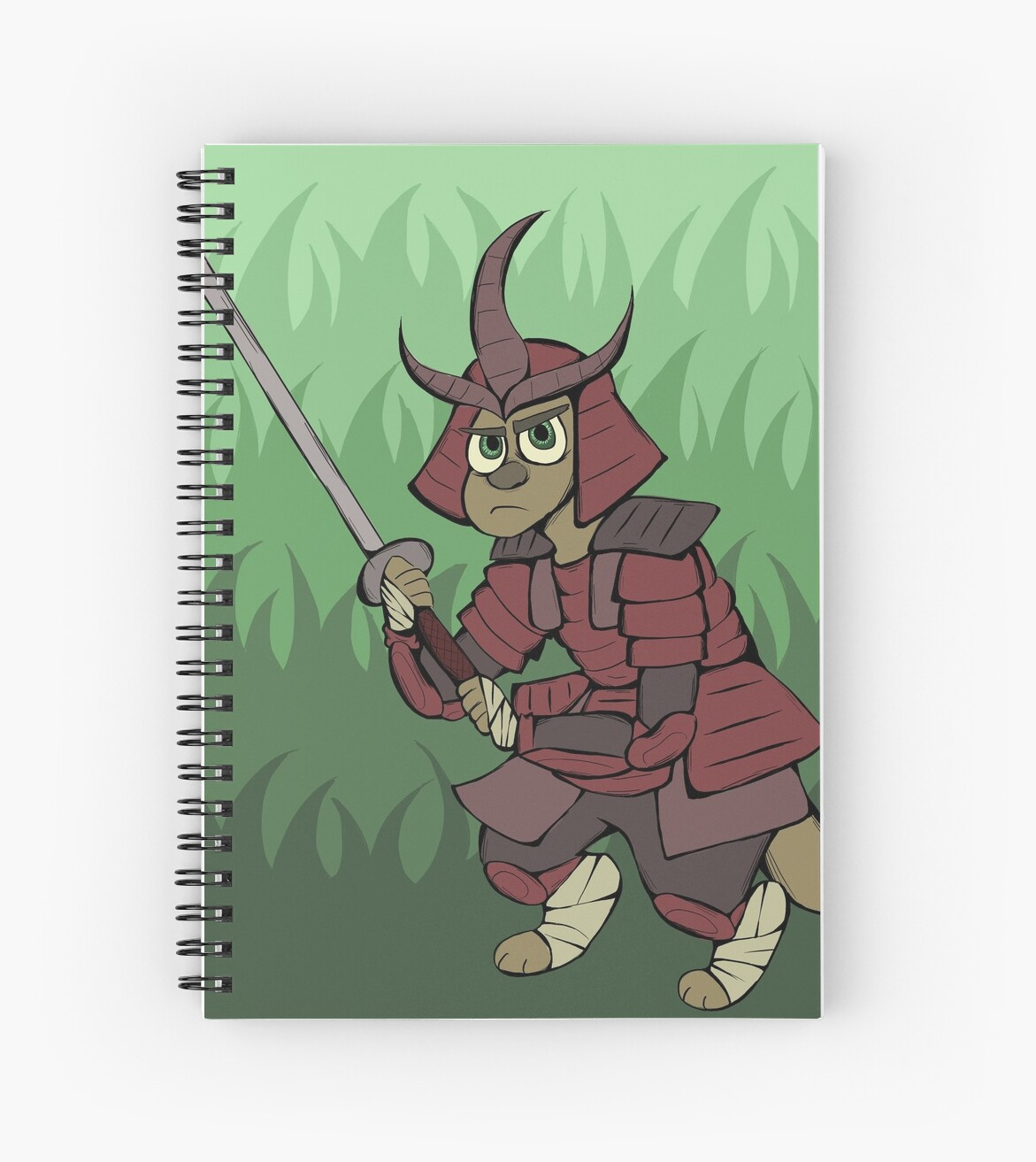 "Manga Samurai Spiral Notebooks By Jiggymiggy: ""Samurai Roo"" Spiral Notebooks By MaCielLaBelle"