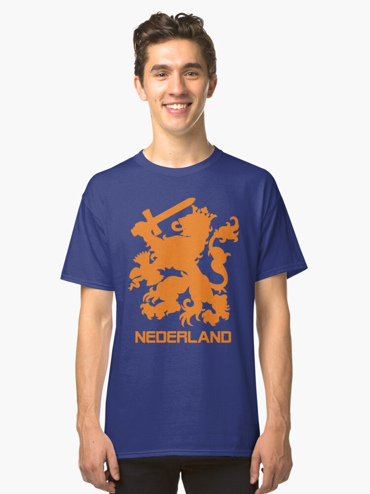 The Netherlands Jersey Shirt Soccer Oranje Dutch Holland Football Classic T- Shirt Front 2018e2fd3