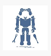 Toys: robot, console, spanner, screwdriver. Photographic Print