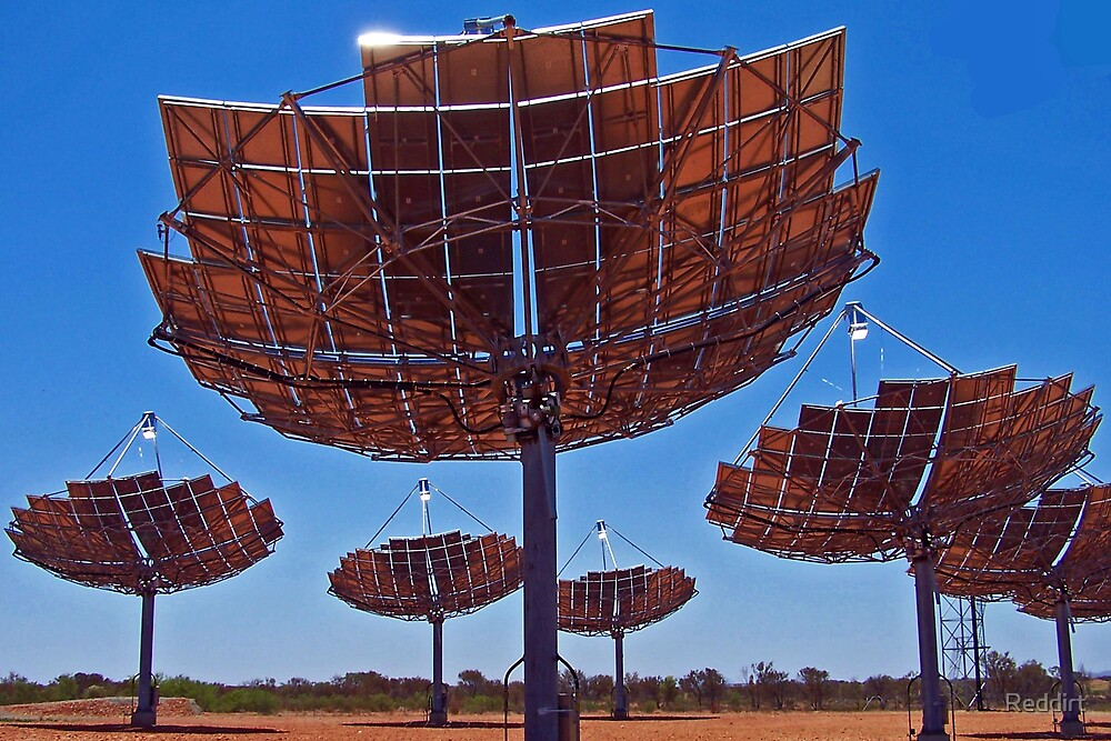 Solar Dishes by Reddirt
