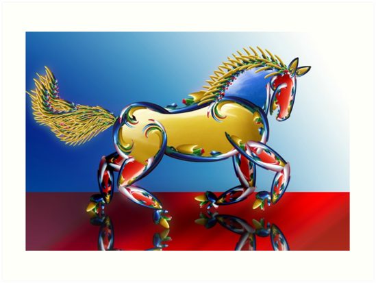 Xmas Light Horse by GolemAura