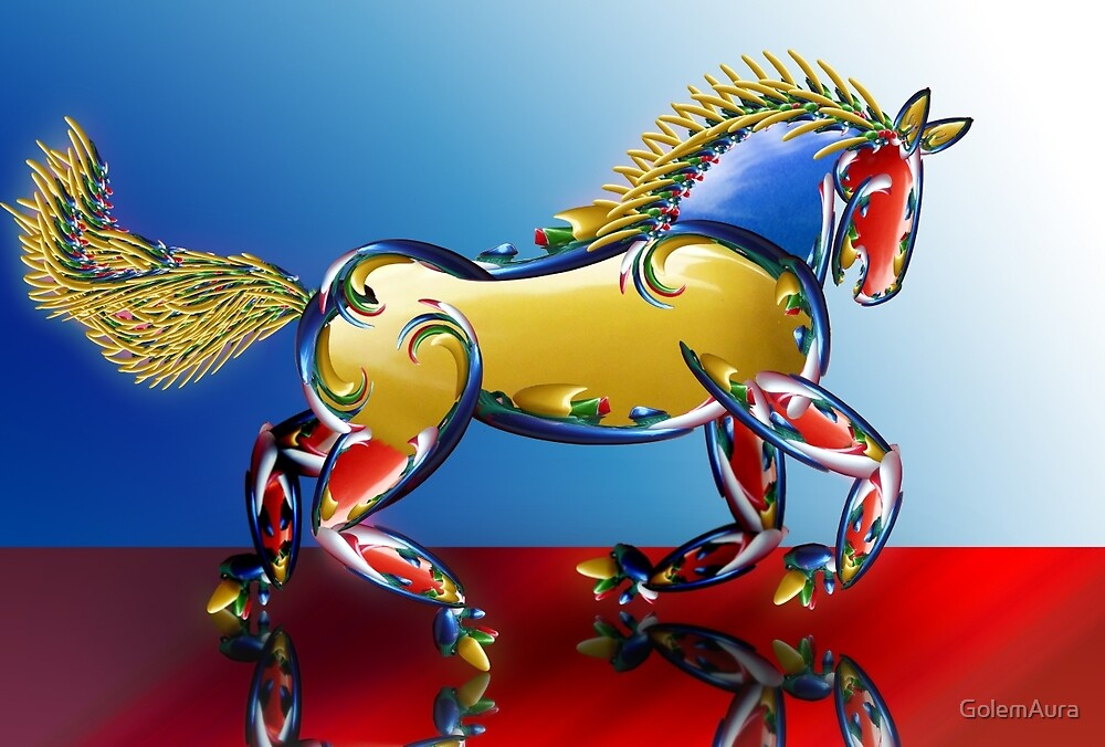Xmas Light Horse by GolemAura