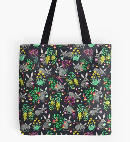 Australian Easter Bilby Egg Hunt - Grey Tote Bag