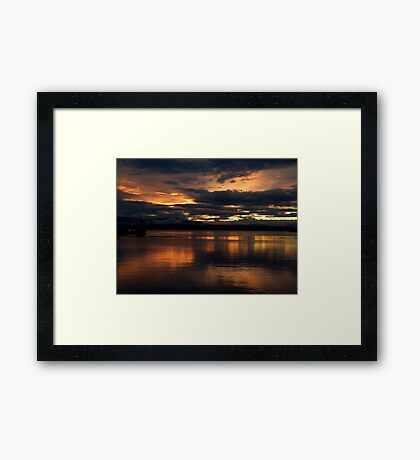Just another sunset. Framed Print