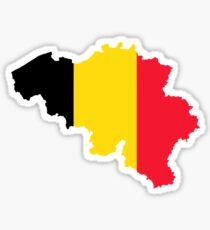 Belgium Flag Map Sticker