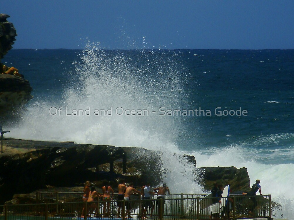 Crashing waves, Queenscliff, Sydney, Australia  by Of Land & Ocean - Samantha Goode