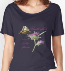Butterflies Come To Pretty Flowers Korean Proverb  Women's Relaxed Fit T-Shirt