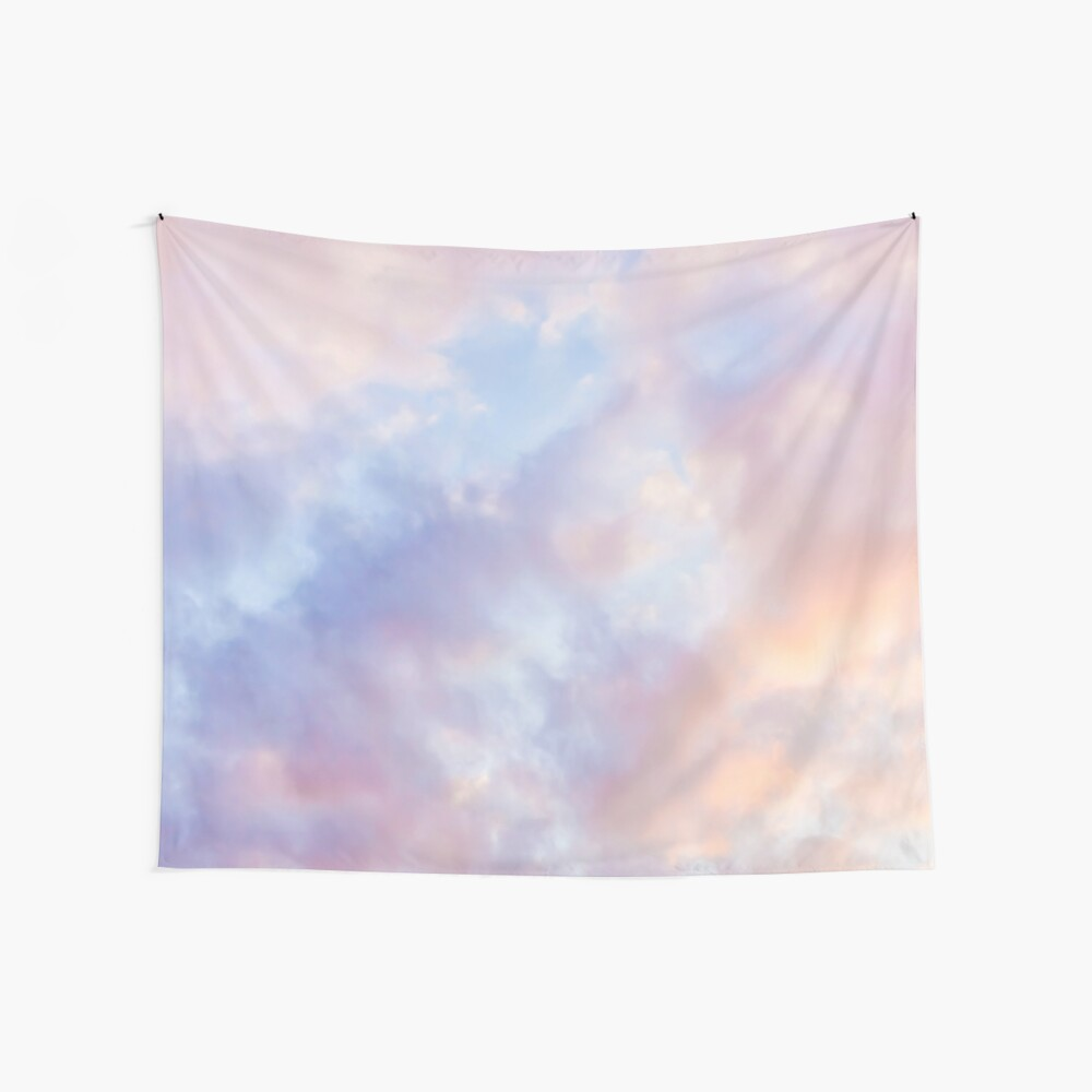 Pink sky Wall Tapestry