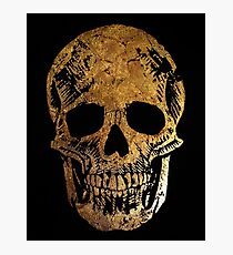 Death by Glamour - Gold Skull Design Photographic Print