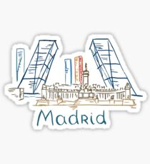 Madrid Panorama Sticker