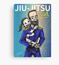 Jiu-Jitsu Dad Canvas Print
