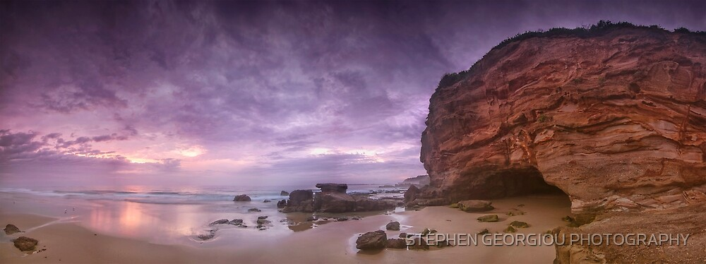 Caves Beach Panorama by STEPHEN GEORGIOU PHOTOGRAPHY