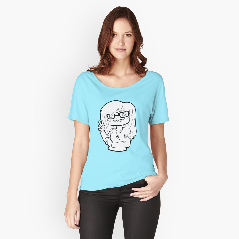 Cheyanne Jane Logo (black and white) Women's Relaxed Fit T-Shirt Front