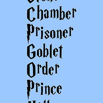 Stone, Chamber, Prisoner, Goblet, Order, Prince, Hallows by Trecentos