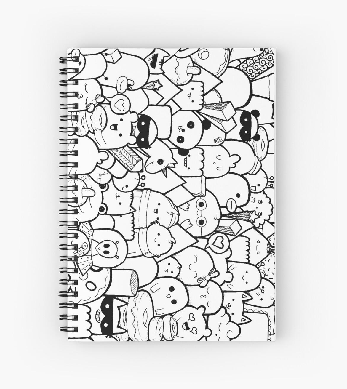 Doodle Art Artsyfeebs Spiral Notebook By Artsyfeebs