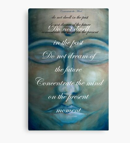 concentrate the mind - buddha © 2008 patricia vannucci  Canvas Print