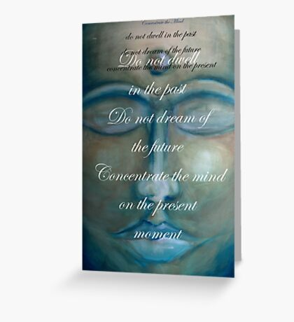 concentrate the mind - buddha © 2008 patricia vannucci  Greeting Card