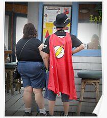 Superheroes Need Breaks Too Poster