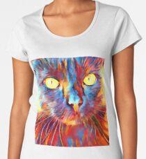 Cat Watercolor Women's Premium T-Shirt