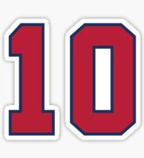 Chipper Jones #10 Atlanta Braves Sticker