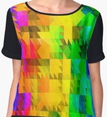 Abstract Colorful Pattern. Geometric Ornamental Triangle Background Chiffon Top