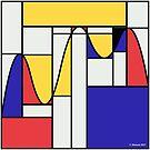 Riemondrian - Mathematical Art based on the work of Piet Mondrian by Christopher Hanusa