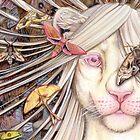 just another butterfly - white lioness furry /anthro von Schiraki
