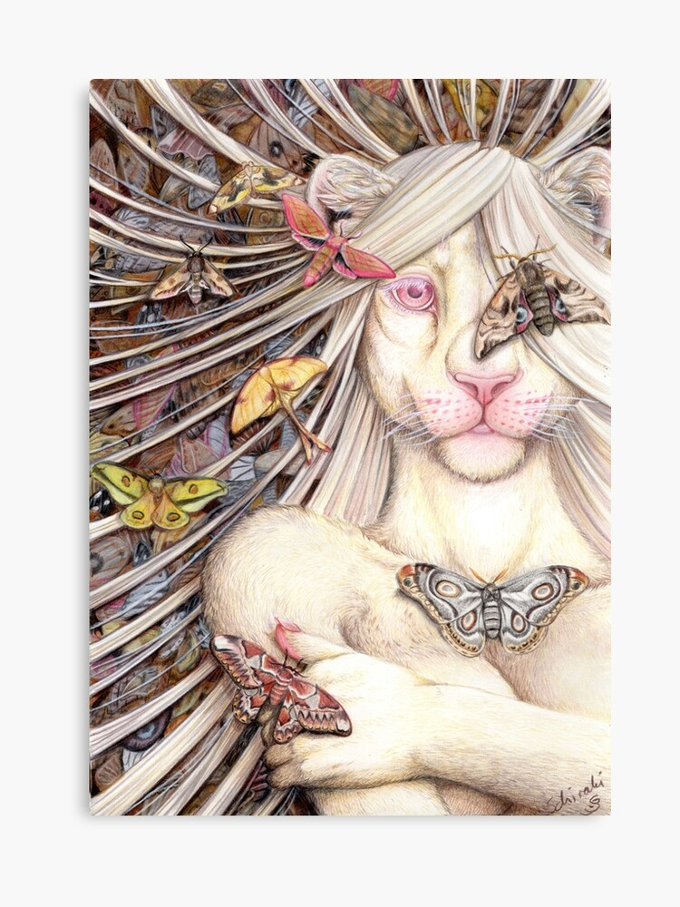 Just Another Butterfly White Lioness Furry Anthro Canvas Print