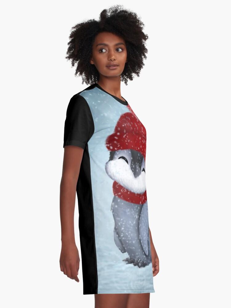 Alternative Ansicht von Baby-Pinguin T-Shirt Kleid
