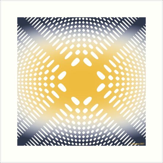 Holey Pattern - Mathematical Image by hanusadesign