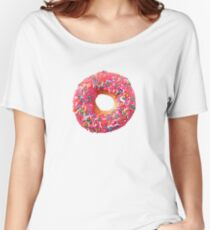Pink Donut Women's Relaxed Fit T-Shirt