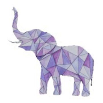 elefante púrpura de stickersnstuff
