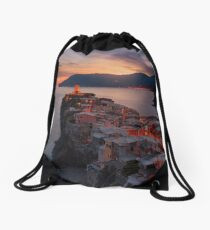 On the edge of Italy Drawstring Bag