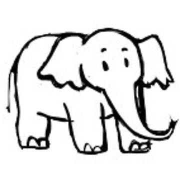 bebé elefante de stickersnstuff