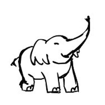 elefante feliz de stickersnstuff