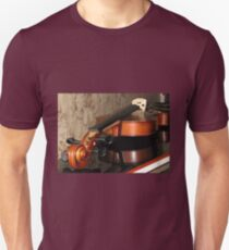 Violin Scroll, Bridge and Tuning Pegs Unisex T-Shirt