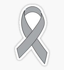 Grey Awareness Ribbon Sticker