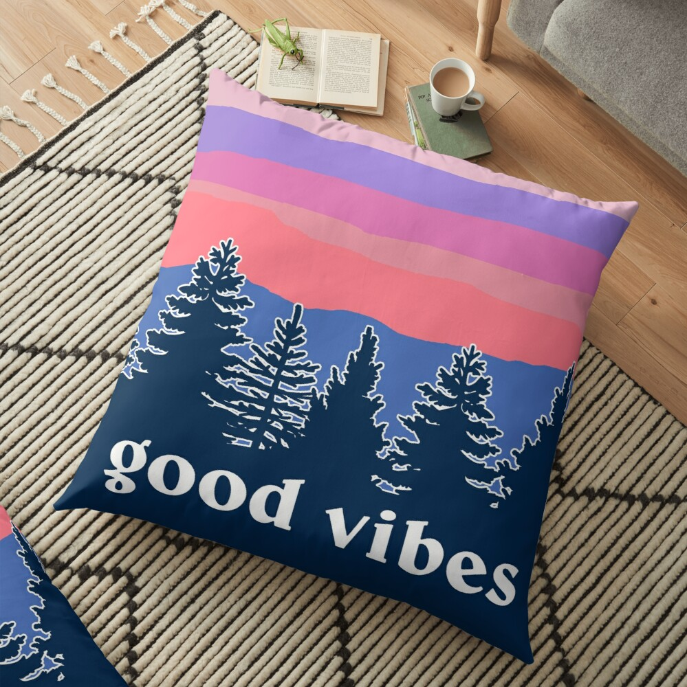 Good Vibes Floor Pillow